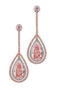 FANCY PINK DIAMOND EARRINGS. DeGems