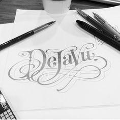 hand-drawn type