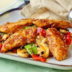 Low Fat Baked Crispy Orange Hoisin Chicken by nlrockrecipes #Chicken #Hoisoin #Orange #Healthy