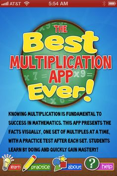 Best Multiplication App Ever - Created by an experienced Dallas teacher!