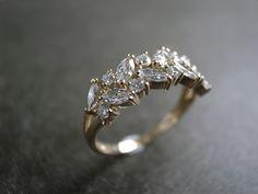 Marquise Diamond Wedding Ring - hnjewelry