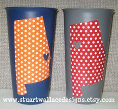 Auburn/Alabama cups. cute! these would make good graduation gifts @Grace K Lenox