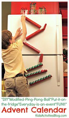 DIY Ping Pong Ball Advent Calendar   Game by kidsactivitiesblog #Kids #Games