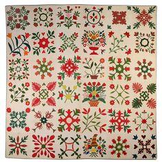 Maryland Album Quilt  Dated 1851