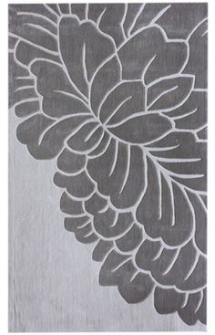 Keno Leaves Grey Rug | Contemporary Rugs