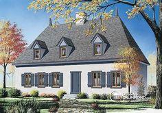 Chalet à l'ancienne offrant espace ouvert, foyer mitoyen & 4 à 5 chambres !  http://www.dessinsdrummond.com/detail-plan-de-maison/info/1001438.html