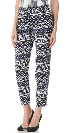 Click Image Above To Buy: Pencey Ikat Print Drawstring Pants