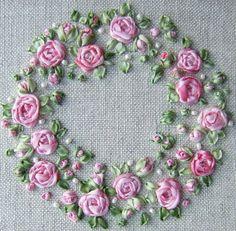 PDF Roses and Pearls Pincushion Kit pink Pattern by lornabateman22