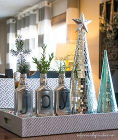 mirror, diy joy, craft, joy christma, christma vase