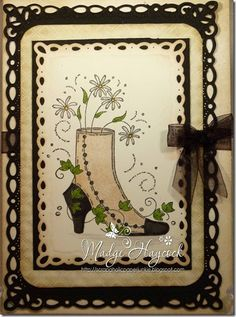 Victorian Shoe Card would be a good invite card.