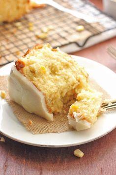 Sweet Corn Cake with Hot Butter Glaze & Beyer Farm - Brown Sugar