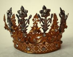 Antique Fleurs and Flowers French Crown Incredible