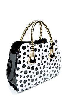 Fashion Dots Print PU Leather Bag