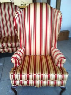 greenhous fabric, wing chairs
