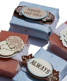 These soap wedding favors are nice! :)