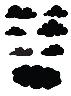 and your head in the clouds, behind right ear (top right image, just outline)
