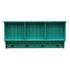 Stratton Home 4-Hook Cubby Wall Shelf