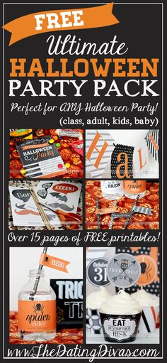Going to use this for the class Halloween party this year and for our family party too- free!! www.TheDatingDivas.com