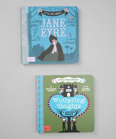 Take a look at this Jane Eyre & Wuthering Heights Board Books by BabyLit on #zulily today!