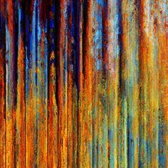 Blue & orange metal corrosion