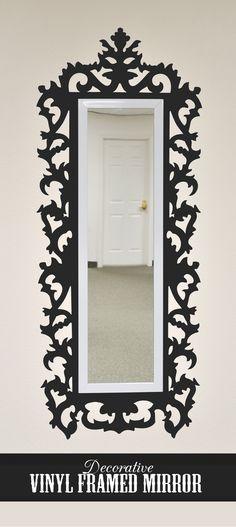 silhouett blog, vinyls, frame mirror, daughters room, tile tutori