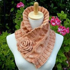 NobleKnits.com - Pam Powers Ruffled and Ruched Scarf Pattern, $7.95 (http://www.nobleknits.com/pam-powers-ruffled-and-ruched-scarf-pattern/)