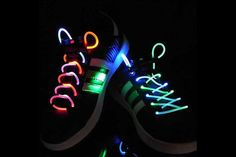 $12 for a 2 Pack of LED Light-Up Shoelaces - Shipping Included