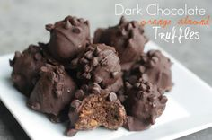 """Well, this just shot up to the top of my """"To Make"""" list. Dark Chocolate Orange Almond Truffles"""
