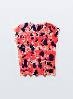 Silk Tee Garden Dot in Coral Multi by byrachelrose on Etsy