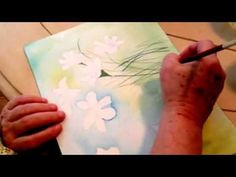 Watercolor Painting May Flowers Lesson 2