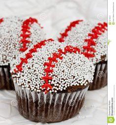 Baseball Cupcakes -- cute