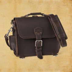 Leather Satchel 'They'll fight over it when you're dead'