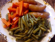 Fresh green beans with fingerling potatoes