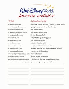 """These are great sites... I'm a former cast member and love """"yourfirstvisit.net"""" I visit on the weeks they recommend, and have yet to wait more than 15 min in line! Another amazing, informative site :)"""