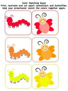 butterfly and caterpillar printables