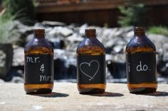 lot of 20 amber bottles with chalkboard tape, $35 centerpiec favor, chalkboards, amber bottl, chalkboard tape, bottles, tapes, vinyl chalkboard, wedding centerpieces, table numbers