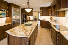 Kitchen granite countertop ideas, design software, top color schemes and makeover tips.