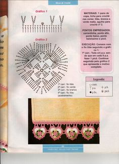 AS RECEITAS DE CROCHÊ: BARRADO CORAÇÃO EM CROCHE #inspiration_crochet_diy GB ...