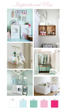 Inspirational Pins - Laundry Room Storage