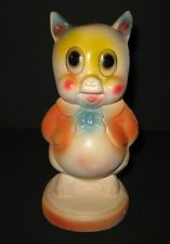 VINTAGE Chalkware  EARLY 60'S PORKY PIG PIGGY Statue
