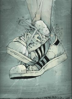 shoes, mill artwork, artworks, weapon, artwork shoe, russ mill, sport, hairstyl, blog