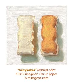 TASTYKAKES -large archival print of food painting by Mike Geno.