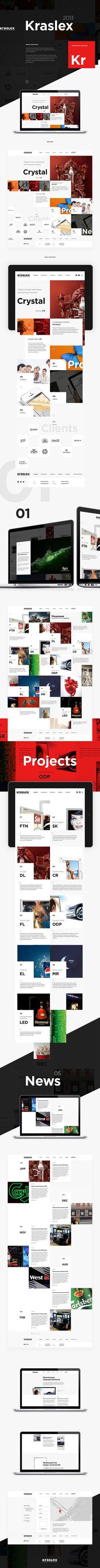 K R S L X by Alexey Masalov, via Behance | #webdesign #it #web #design #layout #userinterface #website #webdesign < repinned by www.BlickeDeeler.de | Visit our website www.blickedeeler.de/leistungen/webdesign