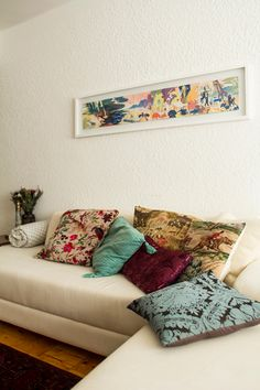 Love this whole apartment, great mixed prints