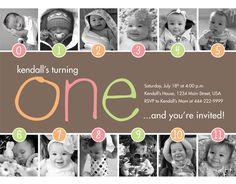Love this 1st birthday invitation