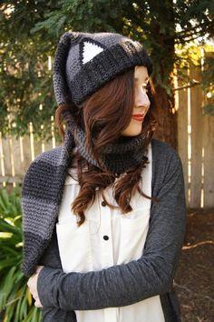 Crocheted Raccoon Scarf - Hat (Scat)