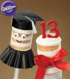 How cute are these #graduation treat pops from @Wilton Cake Decorating Cake Decorating Cake Decorating ?