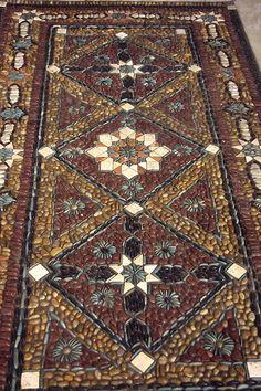 Pebble mosaic carpet//garden path