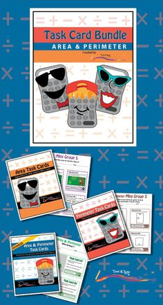 This bundle includes three sets of math task cards that highlight differentiated perimeter and area practice. The three sets are: Perimeter Task Cards, Area Task Cards, and Advanced Perimeter  Area Task Cards. Grades 3-5. $