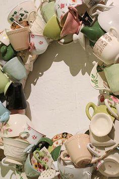 Teacup wreath